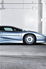 iPhone fondos de pantalla Jaguar XJ220 vista lateral superdeportivo