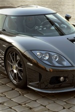 iPhone fondos de pantalla Koenigsegg CCX supercar vista frontal
