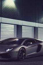 Preview iPhone wallpaper Lamborghini Aventador LP700-4 supercar in night