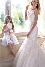 Lindsay Ellingson, bride, smile, cute girl