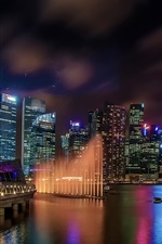 Preview iPhone wallpaper Marina Bay Sands, Singapore, buildings, lights