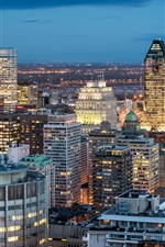 Preview iPhone wallpaper Montreal, Quebec, Canada, city, buildings, night, lights