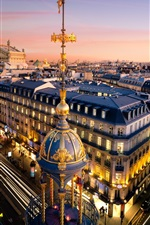 Preview iPhone wallpaper Paris, France, the Grand Opera, buildings, city, lights, night