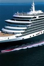 Preview iPhone wallpaper Queen Victoria cruise ship, sea