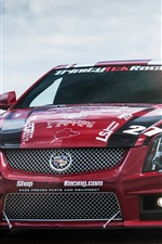 미리보기 iPhone 배경 화면 레드 캐딜락 CTS-V 자동차 경주