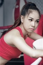 Preview iPhone wallpaper Sports, boxing, girl