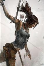Preview iPhone wallpaper Tomb Raider, Lara Croft, blood, fire, artwork