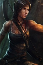 Preview iPhone wallpaper Tomb Raider, Lara Croft, girl, torch