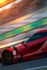Preview iPhone wallpaper Toyota FT-1 Concept red sports car