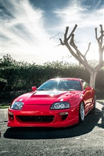 Preview iPhone wallpaper Toyota red supercar