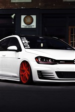 Preview iPhone wallpaper Volkswagen golf GTI car front view