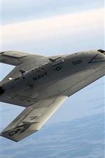 Preview iPhone wallpaper X-47B Pegasus, drone, sky, USA