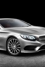 2015 Mercedes-Benz S-Class Coupe silver car