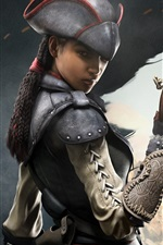 Preview iPhone wallpaper Assassin's Creed IV: Black Flag, girl assassin
