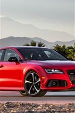 Audi RS7 red V8 car