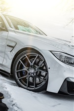 Preview iPhone wallpaper BMW F30 white car