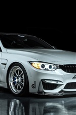 Preview iPhone wallpaper BMW M4 Coupe F82 white car