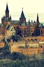 iPhone обои Burg Замок Гогенцоллерн, Германия, гора