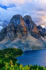 Preview iPhone wallpaper Canada, Alberta, mountains, lakes, forest, autumn