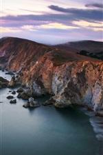 Preview iPhone wallpaper Chimney Rock, Point Reyes National Seashore, California, USA, coast