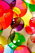 Preview iPhone wallpaper Colorful abstract background, bubbles, circles