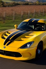 Dodge Viper SRT GTS yellow supercar