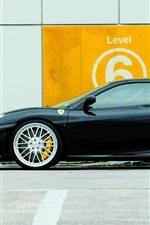 Preview iPhone wallpaper Ferrari F430 black supercar side view