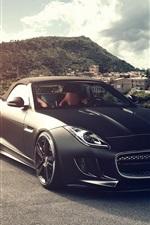 Jaguar F-Type V8 S black car front view