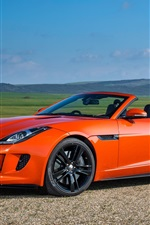 Jaguar F-Type V8 S orange car