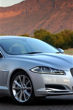 Jaguar XF silver car side view