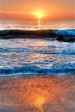 Preview iPhone wallpaper Laguna Beach, California, USA, sea, sunset, clouds