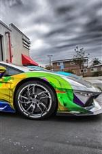 Preview iPhone wallpaper Lamborghini Aventador supercar colorful paint