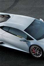 Preview iPhone wallpaper Lamborghini Huracan supercar top view