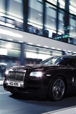 Preview iPhone wallpaper Rolls Royce Ghost V-Specification car, night, city