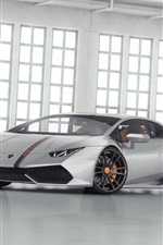 iPhone fondos de pantalla Plata Lamborghini LP 610 superdeportivo