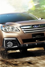 Preview iPhone wallpaper Subaru Legacy brown SUV car