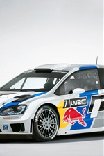 iPhone fondos de pantalla Volkswagen Polo WRC 2013 rally de coches