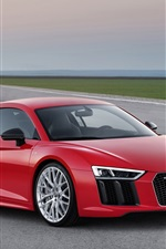 Preview iPhone wallpaper 2015 Audi R8 red car