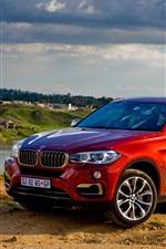 미리보기 iPhone 배경 화면 2015 BMW X6 xDrive 한 빨간 SUV 자동차