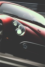 Alfa Romeo red supercar front view