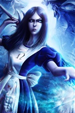 Preview iPhone wallpaper Alice Madness Returns, blue style, magic