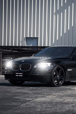 미리보기 iPhone 배경 화면 BMW 750i 검은 차