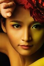 Beautiful asian girl, fashion, makeup