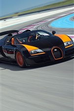 Preview iPhone wallpaper Bugatti Veyron supercars in race