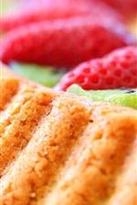Preview iPhone wallpaper Dessert, food, cake, strawberries