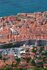 Preview iPhone wallpaper Dubrovnik, Croatia, Adriatic sea, coast, houses