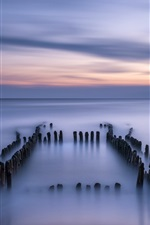 Preview iPhone wallpaper Germany, North sea, calm, evening, dusk