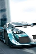 미리보기 iPhone 배경 화면 Gumpert 아폴로, 속도, 스포츠 자동차, 전면보기