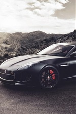 Preview iPhone wallpaper Jaguar F-Type V8 S black supercar