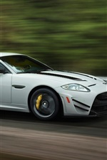 Preview iPhone wallpaper Jaguar XKR-S GT white car speed